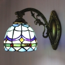 6 Inches Wide Tiffany Style Wall Lamp Fitted For Bedroom