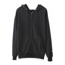 Zip Up Long Sleeve Plain Sweatshirt