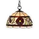 10 Inch Wide Dining Room Tiffany Hanging Pendant Light in Country Style