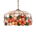 12 Inch Nature Sea Shell Material Tiffany One-light Pendant Lighting
