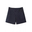 Zip Side Stripes Tweed Hot Shorts