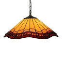 Dining Room Umbrella Shade 16 Inch Tiffany Stained Glass Hanging Pendant