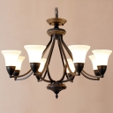 Wrought Iron 8 Light 1 Tier LED Chandelier in Oil-Rubbed Bronze