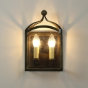 2-Lite LED Wall Sconce Light in Antique Bronze