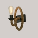 Matte Black 1 Light Rope LED Wall Sconce