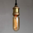 Bare Bulb LED Mini Pendant Light Edison Bulb Socket with Single Light
