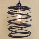 Industrial Stacked Satin Black 1 Light LED Mini-Pendant