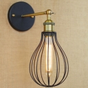 6 1/4'' W Industrial 1 Light Adjustable LED Wall Sconce with Wire Cage