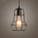 Textured Satin Black 1 Light LED Mini Hanging Pendant