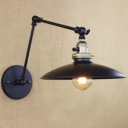 Black 1 Light LED Wall Bracket with Adjustable Arm