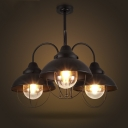 Industrial 3 Light 1 Tier LED Chandelier