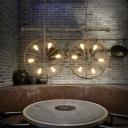 Industrial Style Wheel Rectangular LED Chandelier