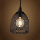 Vintage Black Industrial Rustic Metal Mesh LED Pendant Light Ceiling Lamp Shade