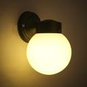 Globe Shape Single Light Wall Lamp