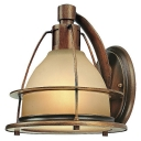 1-Light LED Wall Sconce - Sunset Bronze Finish with Light Amber Glass