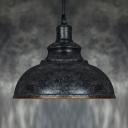 LOFT Rust Iron Dome LED Pendant Light