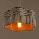 14'' W Industrial Vintage Burlap 1 Bulb LED Hanging Pendant