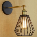 8'' High Antique Brass 1 Light Indoor  Small LED Wall Sconce