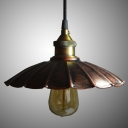 Weathered Copper 1 Light Mini Barn/Warehouse LED Pendant