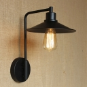 Industrial Style 1 Light LED Wall Sconce with Metal Coolie  Shade