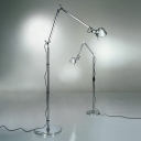 74'' H Task LED Floor Lamp in Silver Color