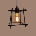 6 1/4'' W Matte Black Intersections 1 Light LED Mini Pendant