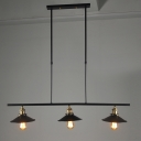3 Light Kitchen LED Island Pendant Industrial Style Chandelier