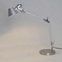 Silver Color Office LED Desk Lamp Polished Aluminum Lights