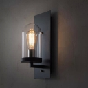 Hallway 1 Lt LED Wall Sconce in Black Finish