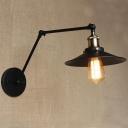 Adjustable  1 Light Barn LED Wall Lamp in Black