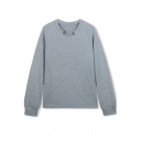 Raglan Long Sleeve Notched Neck Plain Pullover Sweatshirt