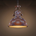 Antique Copper 12'' Wide LED Pendant Light with Diffuser