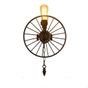 20'' High Single Light Grey Wheel Industrial LED Wall Lamp