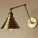 1 Light Adjustable LED Wall Sconce in Brass