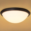 Satin Black 16 Inches Wide Ambient Hallway LED Flush Mount Ceiling Light