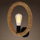 Rope Matte Black 1 Light LED Wall Sconce