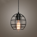7 Inches Wide Vintage Satin Black 1 Light Small LED Pendant