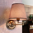 Polished Bronze 1 Light Modern Style Swing Arm LED Wall Lamp