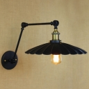 Black Industrial Adjustable LED Wall Light Indoor Hallway Lighting