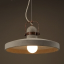 16 Inches Wide Old Cement Industrial LED Pendant Light