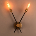 Antique Brass 2 Light LED Wall Lamp with Rotating Arms