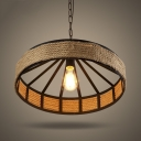 1 Light Pendant Textured Black Indoor Lighting LED Pendants