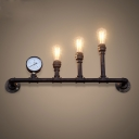 16 Inches Rust Iron 3-Light Steampunk Pipe LED Wall Sconces