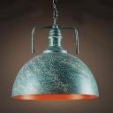 Green Galvanized Iron Single Light Down Lighting Barn Metal LED Pendant