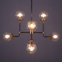 32 Inches Wide 8 Bulbs Industrial LED Chandelier