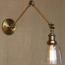 Burnished Brass 1 Light Down Lighting Adjustable LED Mini Wall Light
