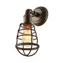 13'' High  Weathered Iron LED Wall Sconce with Wire Guard