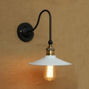 Retro Black Finish 8'' Wide 1 Light LED Wall Sconce