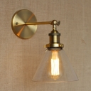 Vintage 1 Light Sconce LED Wall Light with Clear Glass
