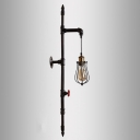 40'' High Black Finish Pipe LED Wall Sconce